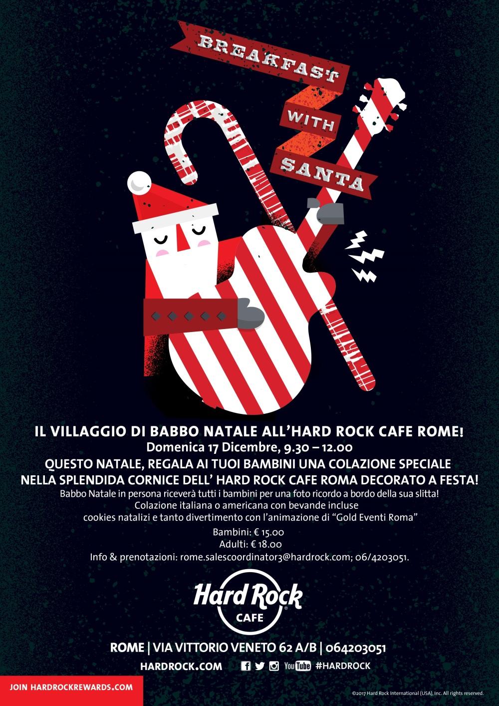 Hard Rock Cafe Roma - Colazione con Babbo Natale 2017 (1)