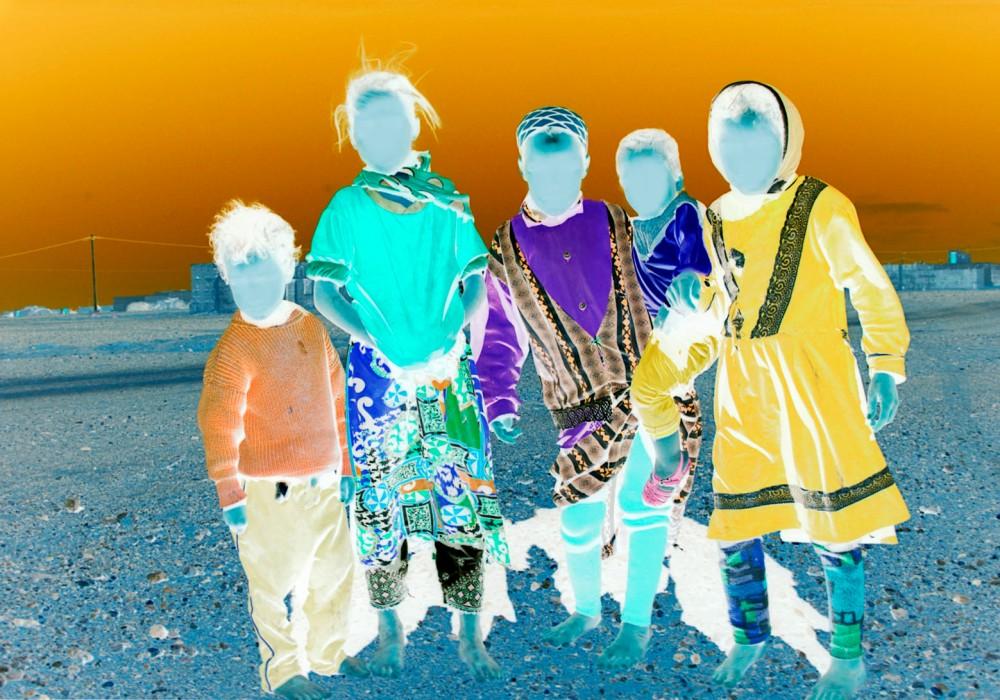 Morocco desert kids
