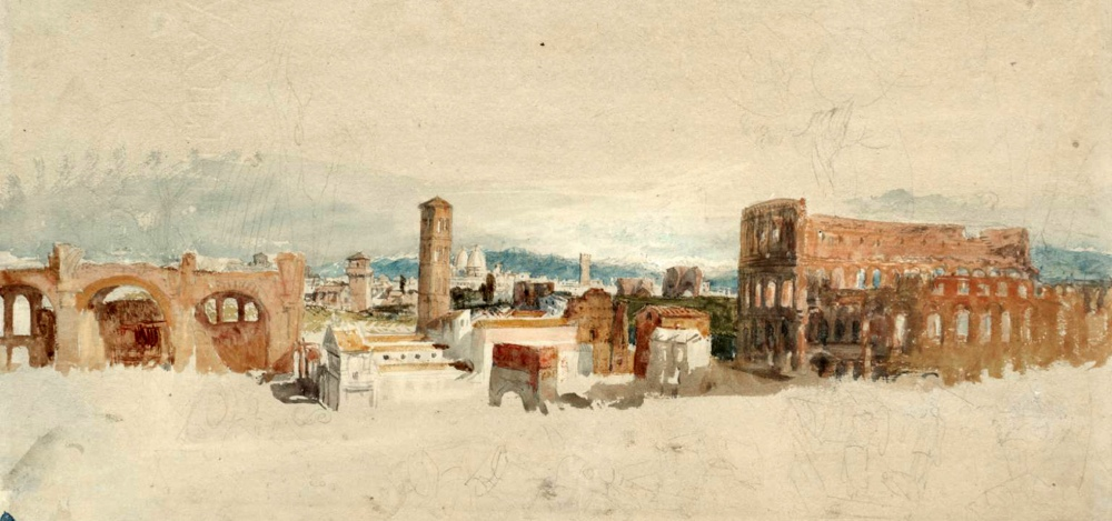 The Colosseum and Basilica of Constantine 1819 by Joseph Mallord William Turner 1775-1851